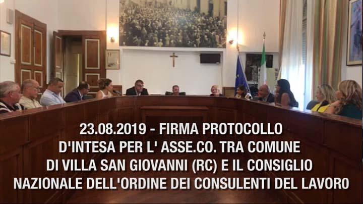 23.08.2019  Villa San Giovanni firma Asse.Co.