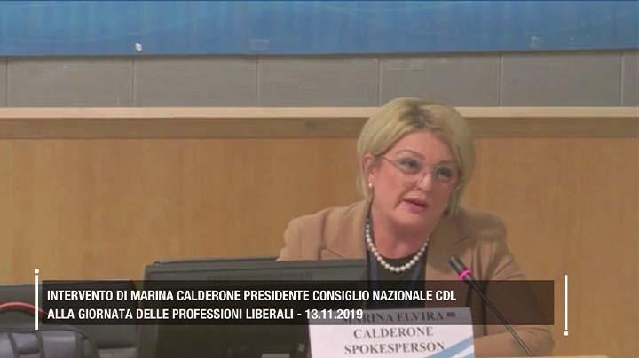 Intervento di Marina Calderone alla giornata delle professioni liberali