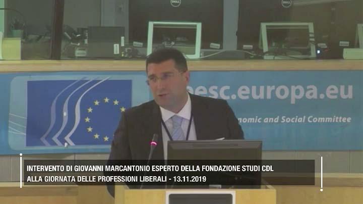 Intervento di Giovanni Marcantonio alla giornata delle professioni liberali