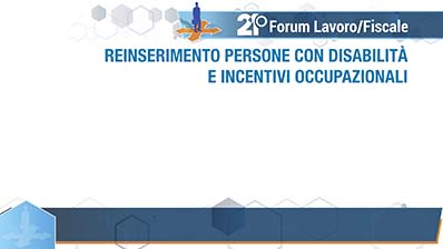 Incentivi occupazionali e reinserimento disabili