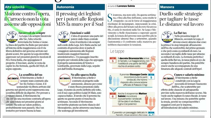 Rassegna Stampa - 05.08.2019