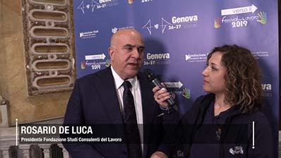 Verso il Festival del Lavoro, De Luca: Bilancio