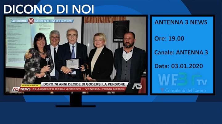 Antenna 3 del 03.01.2020 delle 19.00