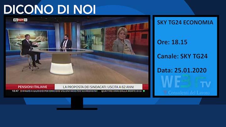 Sky Tg24 Economia del 25.01.2020 delle 18.15