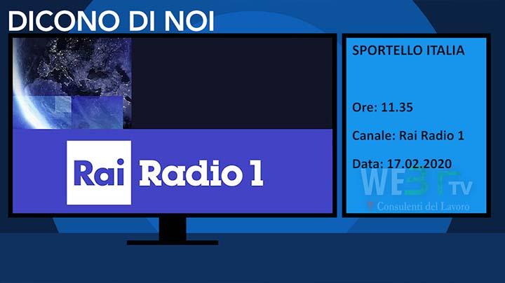 Radio Rai 1 Sportello Italia del 17.12.2019
