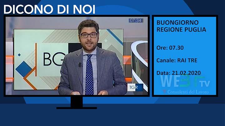 Buongiorno Regione Puglia del 21.02.2020 delle 07.30
