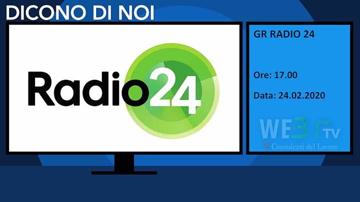 Radio24 del 24.02.2020 delle 17.00