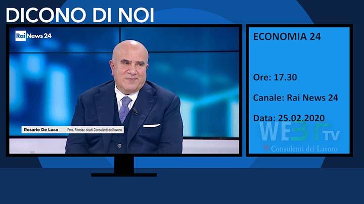 RaiNews24 Economia del 25.02.2020 delle 17.30