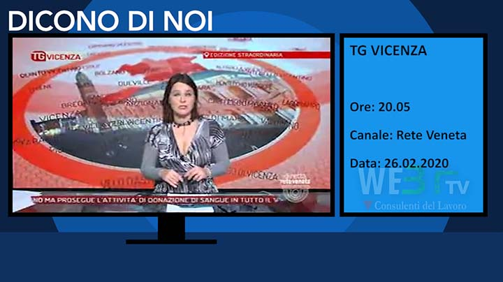 Tg Vicenza del 26.02.2020 delle 20.05