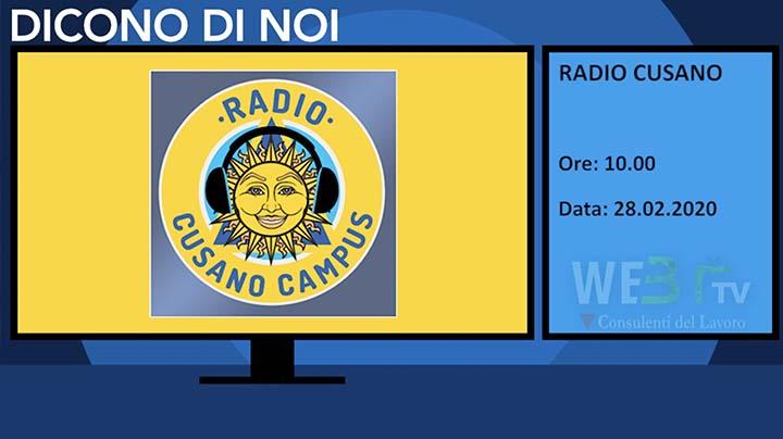 Radio Cusano del 28.02.2020 delle 10.00