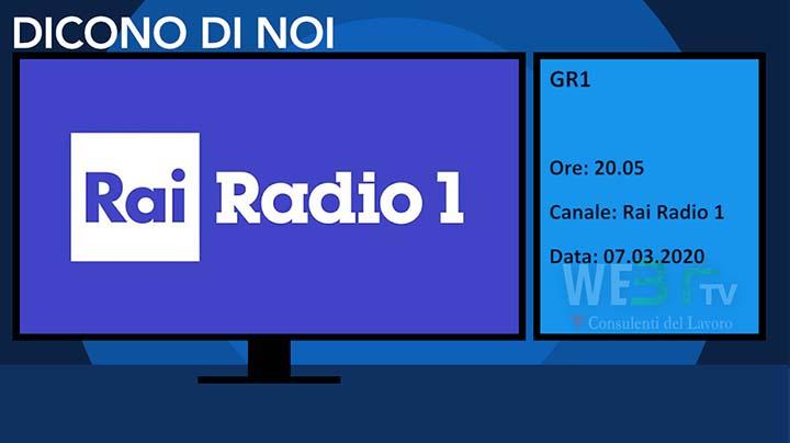 Rai Radio 1 - GR1 del 07.03.2020 delle 20.05