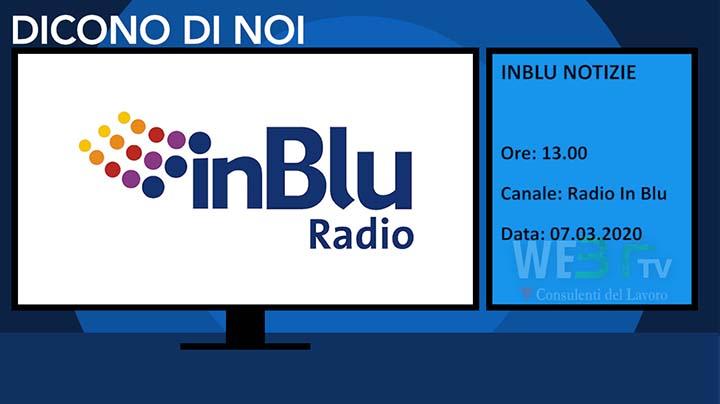 Radio In Blu del 07.03.2020 delle 13.00