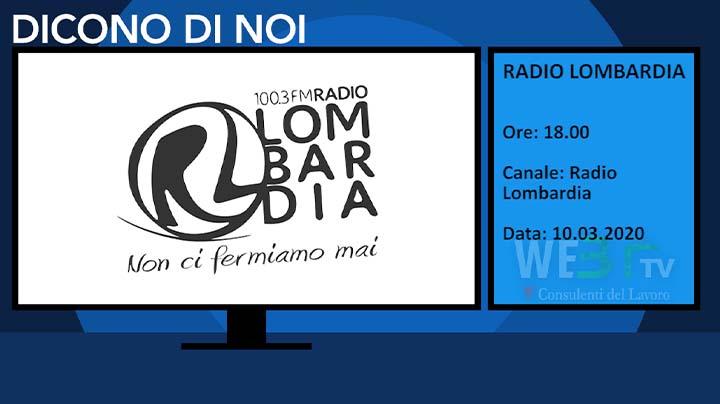 Radio Lombardia del 10.03.2020 delle 18.00