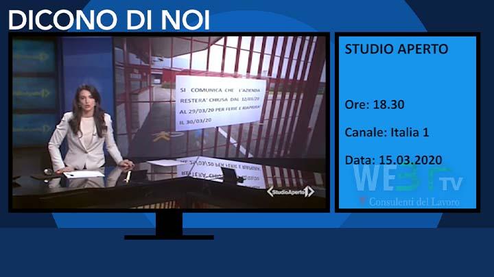 Italia 1 - Studio Aperto del 15.03.2020 delle 18.30