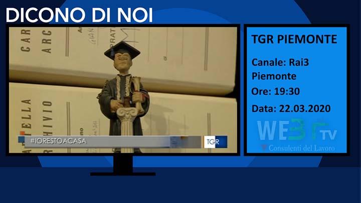 Tg3 Piemonte del 22.03.2020