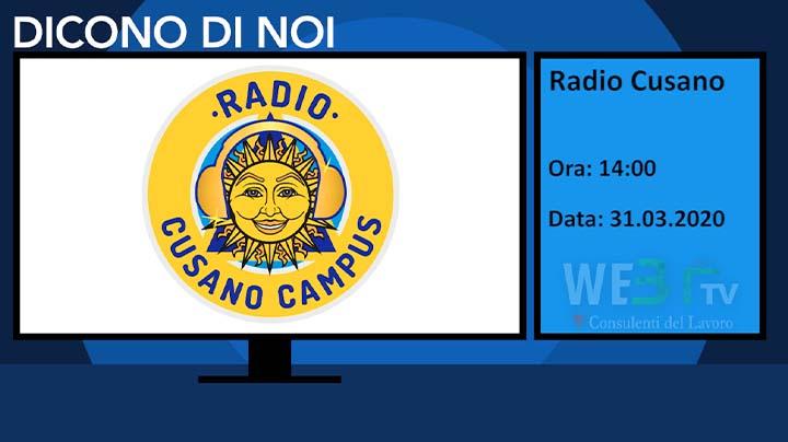 Radio Cusano del 31.03.2020