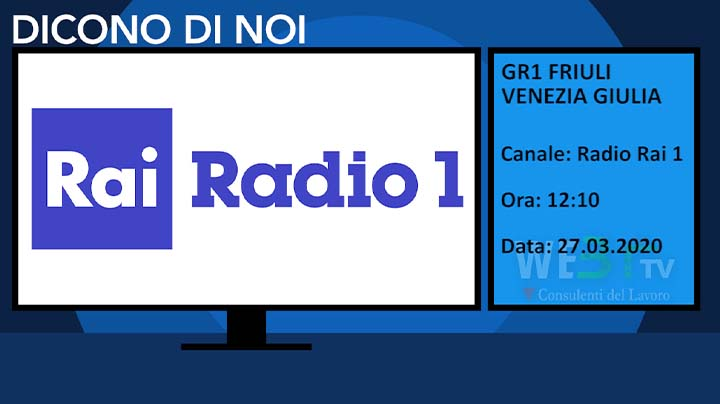 GR1 Friuli Venezia Giulia del 27.03.2020