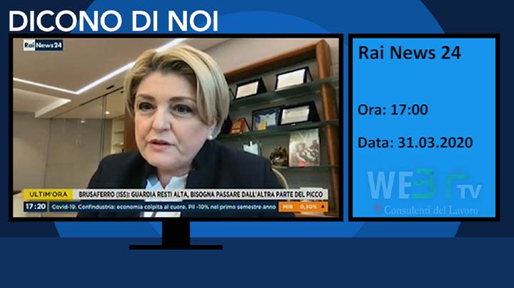 Rai News 24 del 31.03.2020