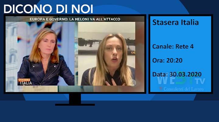 Stasera Italia del 30.03.2020