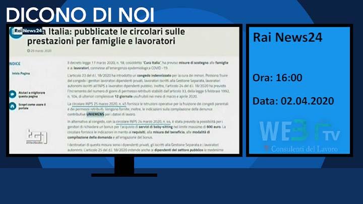 Rai News 24 del 02.04.2020 16:00
