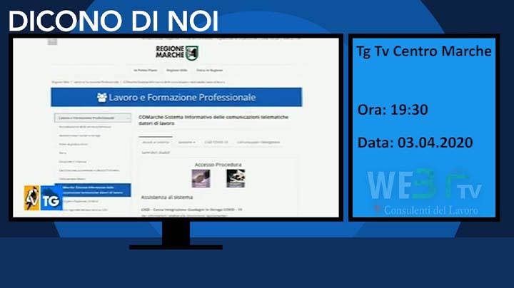 Tg Tv Centro Marche del 03.04.2020 19:30