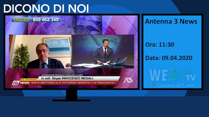 Antenna 3 TG del 09.04.2020
