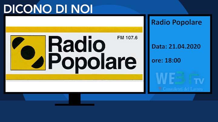 Radio Popolare del 21.04.2020
