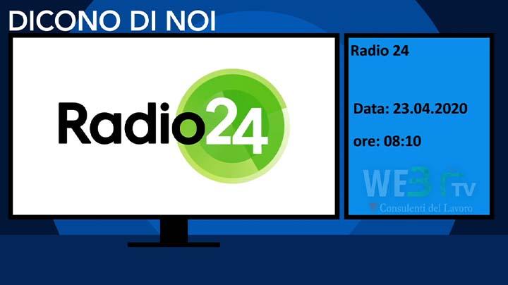 Radio 24 del 23.04.2020