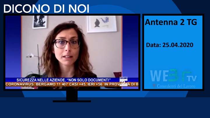 Antenna 2 TV TG del 25.04.2020