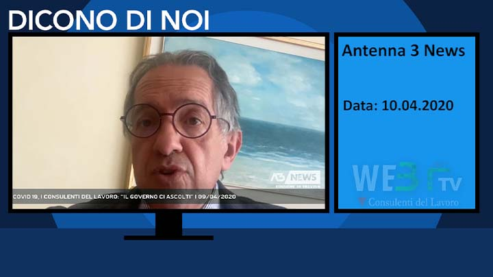 Antenna 3 TG del 10.04.2020