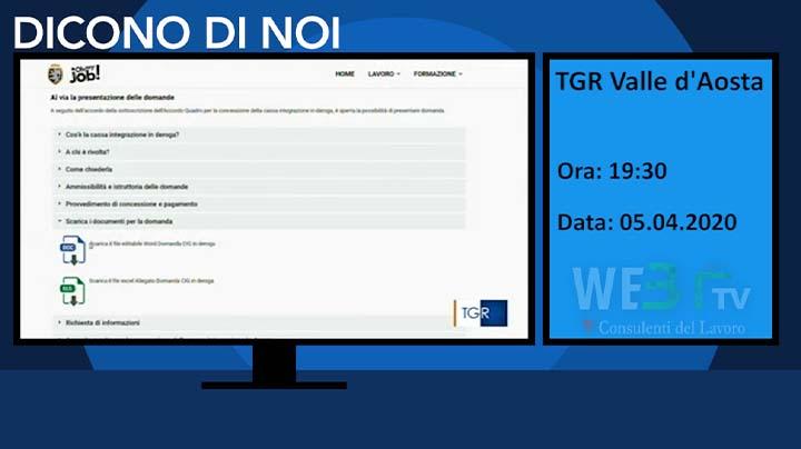 TGR Valle d'Aosta del 05.04.2020 19.30
