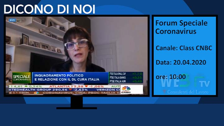 Forum Speciale Coronavirus Class CNBC del 20.04.2020