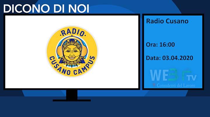 Radio Cusano del 03.04.2020
