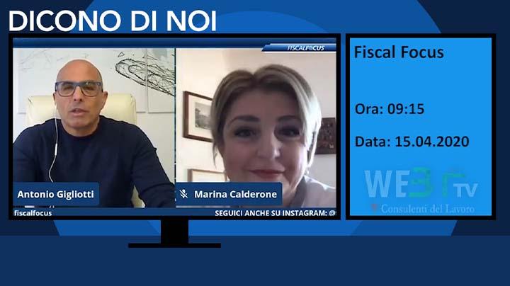 Fiscal Focus intervista la Presidente Marina Calderone 15.04.2020