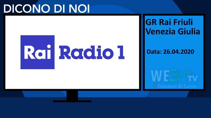 GR Friuli Venezia Giulia del 26.04.2020