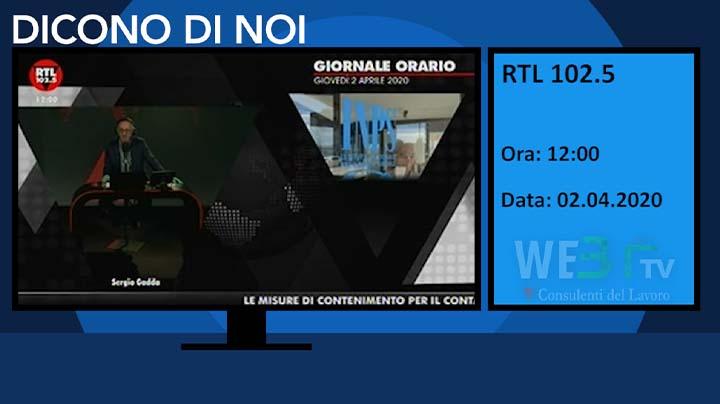 RTL 102.5 del 02.04.2020