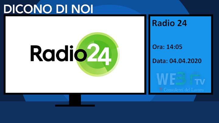 Radio 24 del 04.04.2020