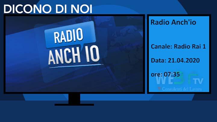 Radio Anch'io del 21.04.2020
