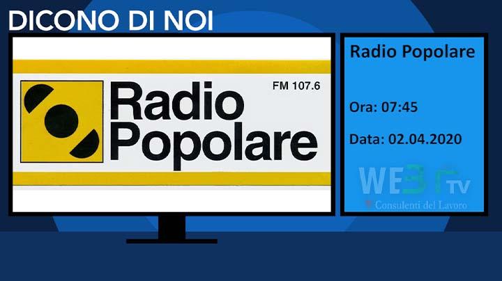 Radio Popolare del 02.04.2020