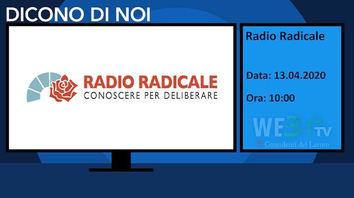 Radio Radicale del 13.04.2020