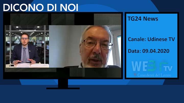 TG24 News Udinese TV del 09.04.2020
