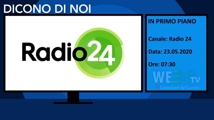 Radio 24 del 23.05.2020