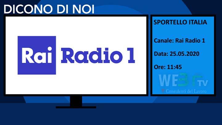 Sportello Italia del 25.05.2020