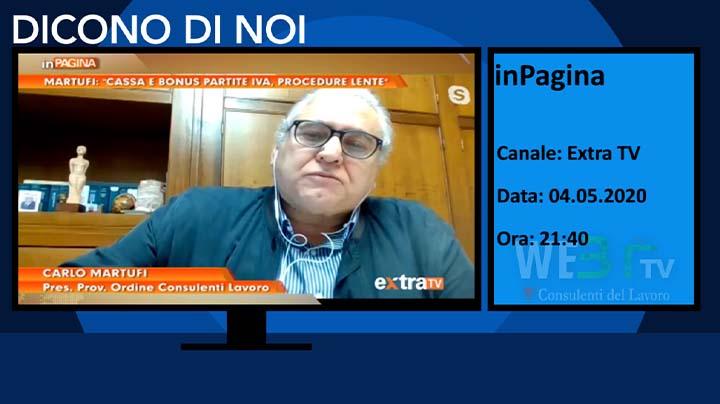 In Pagina Extra TV del 04.05.2020