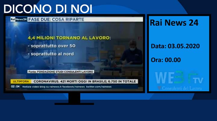 Rai News 24 del 03.05.2020