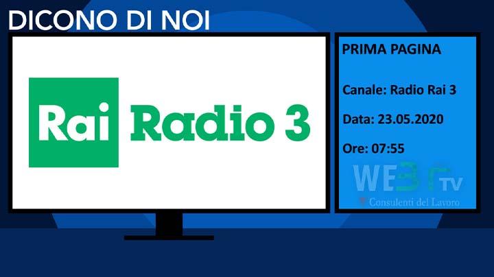 Rai Radio 3 del 23.05.2020