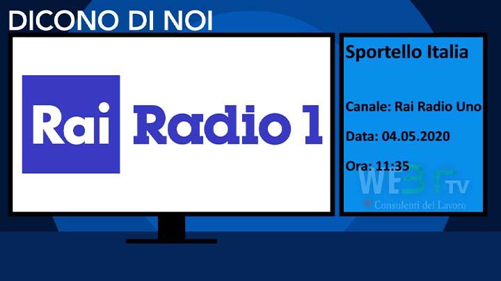 Rai Radio1 Sportello Italia del 04.05.2020