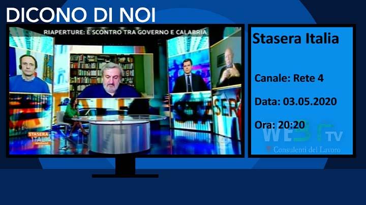 Stasera Italia del 03.05.2020