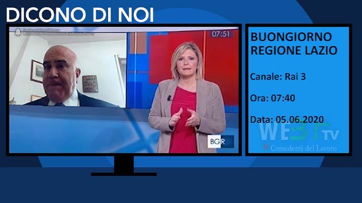Buongiorno Regione Lazio - Rai 3 del 05.06.2020