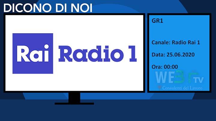 Radio Rai 1 - Gr1 del 25.06.2020